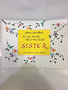 2018 Calendar: For The World's Most Wonderful Sister PB - Blue Mountain Arts