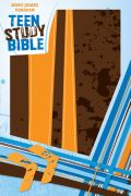 KJV Teen Study Bible-Burnt Orange/Fudge DuoTone - Zondervan