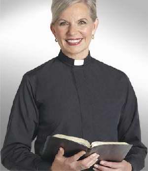 "Clerical Shirt: Women 1"" Slip-in Collar L/S Black - Reliant Shirts"