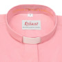 """Clerical Shirt: Women 1"""" Slip-in Collar L/S Pink - Reliant Shirts"""