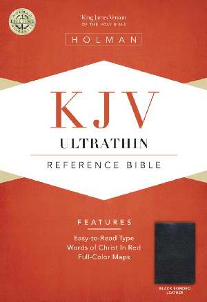 KJV UltraThin Reference Bible B/L Black - Holman