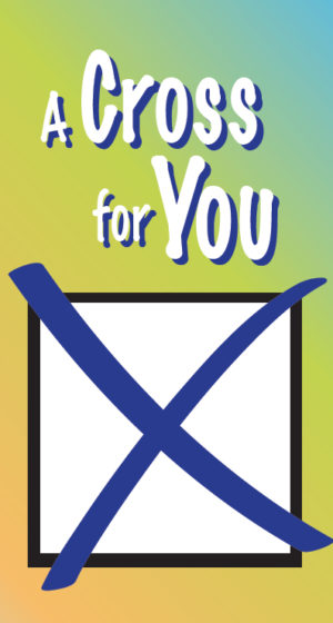 Tract: A Cross For You [100 Pack] PB - Hayes Gospel Tracts